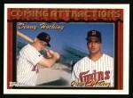 1994 Topps #771  Denny Hocking  /  Oscar Munoz  Front Thumbnail