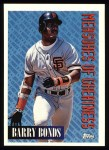1994 Topps #605   -  Barry Bonds Measures of Greatness Front Thumbnail