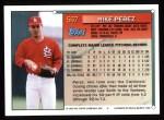 1994 Topps #567  Mike Perez  Back Thumbnail