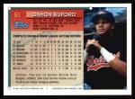 1994 Topps #61  Damon Buford  Back Thumbnail