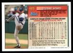 1994 Topps #483  Duane Ward  Back Thumbnail
