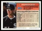 1994 Topps #118  Jason Bere  Back Thumbnail