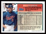 1994 Topps #714  Tim Spehr  Back Thumbnail