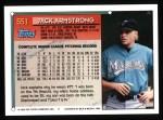 1994 Topps #551  Jack Armstrong  Back Thumbnail