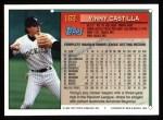 1994 Topps #163  Vinny Castilla  Back Thumbnail