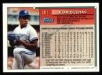 1994 Topps #181  Juan Guzman  Back Thumbnail