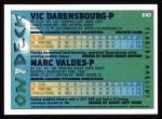 1995 Topps #649  Marc Valdes  Back Thumbnail