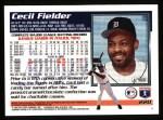 1995 Topps #220  Cecil Fielder  Back Thumbnail