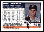 1995 Topps #595  Brad Ausmus  Back Thumbnail