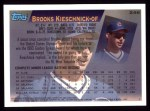 1995 Topps #246  Brooks Kieschnick  Back Thumbnail