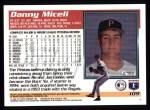 1995 Topps #109  Danny Miceli  Back Thumbnail