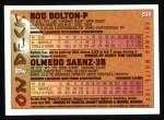 1995 Topps #634  Rod Bolton  Back Thumbnail