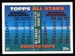 1995 Topps #387   -  Cal Ripken  Jr. /  Will Cordero All-Star Back Thumbnail