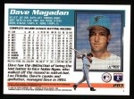 1995 Topps #283  Dave Magadan  Back Thumbnail