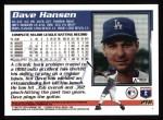 1995 Topps #218  Dave Hansen  Back Thumbnail