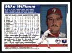 1995 Topps #351  Mike Williams  Back Thumbnail