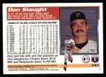1995 Topps #345  Don Slaught  Back Thumbnail