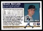 1995 Topps #342  Scott Servais  Back Thumbnail