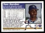 1995 Topps #475  Tom Gordon  Back Thumbnail