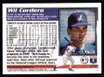 1995 Topps #108  Wil Cordero  Back Thumbnail