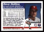 1995 Topps #586  Dave Hollins  Back Thumbnail