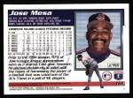 1995 Topps #161  Jose Mesa  Back Thumbnail