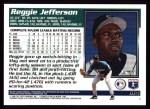 1995 Topps #614  Reggie Jefferson  Back Thumbnail