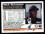 1995 Topps #602  Mark McLemore  Back Thumbnail