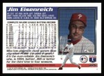 1995 Topps #326  Jim Eisenreich  Back Thumbnail