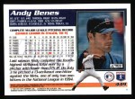 1995 Topps #449  Andy Benes  Back Thumbnail