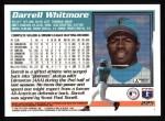 1995 Topps #225  Darrell Whitmore  Back Thumbnail