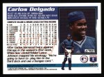 1995 Topps #469  Carlos Delgado  Back Thumbnail