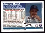 1995 Topps #609  Duane Ward  Back Thumbnail
