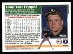 1995 Topps #407  Todd Van Poppel  Back Thumbnail
