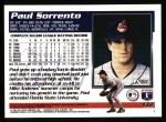 1995 Topps #132  Paul Sorrento  Back Thumbnail