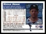 1995 Topps #294  Steve Howe  Back Thumbnail