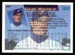 1995 Topps #287  Gabe White  Back Thumbnail