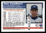 1995 Topps #416  Tom Candiotti  Back Thumbnail