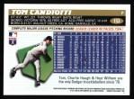 1996 Topps #153  Tom Candiotti  Back Thumbnail