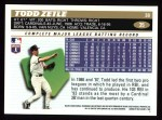 1996 Topps #35  Todd Zeile  Back Thumbnail