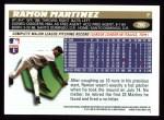 1996 Topps #206  Ramon Martinez  Back Thumbnail