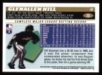 1996 Topps #32  Glenallen Hill  Back Thumbnail
