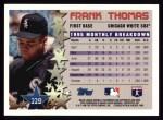 1996 Topps #229  Frank Thomas  Back Thumbnail