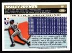 1996 Topps #386  Wally Joyner  Back Thumbnail