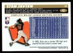 1996 Topps #57  Stan Javier  Back Thumbnail