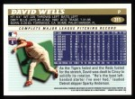 1996 Topps #311  David Wells  Back Thumbnail