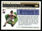 1996 Topps #193  Ryan Klesko  Back Thumbnail