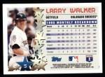 1996 Topps #5   -  Larry Walker Star Power Back Thumbnail