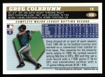 1996 Topps #408  Greg Colbrunn  Back Thumbnail