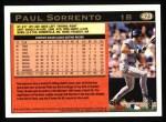 1997 Topps #423  Paul Sorrento  Back Thumbnail
